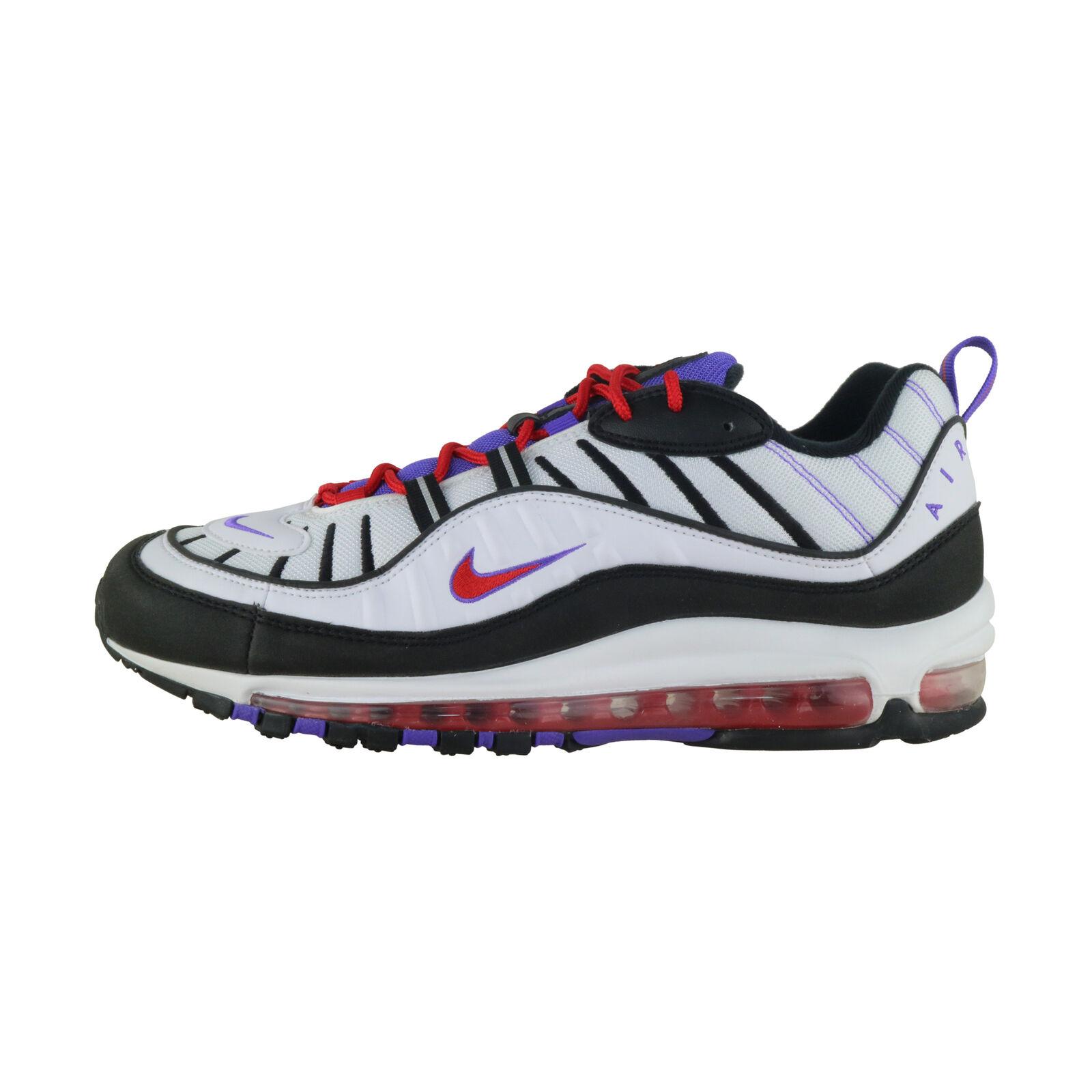 Détails sur Nike Air Max 98 BlancNoirViolet 640744 110