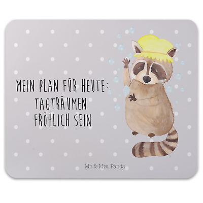 Mr. & Mrs. Panda Mauspad Druck Waschbär