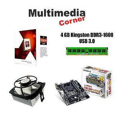 PC Aufrüstkit AMD FX-4300, 4x3,8 GHz, Gigabyte 78LMT USB3 , 4 GB DDR3 RAM AM3+