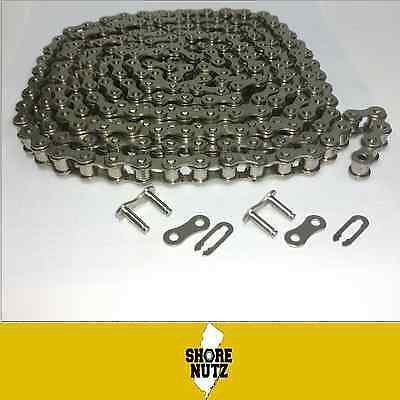 80np Nickel Plated Roller Chain 10ft With 2 Master Links Corrosion Resistant