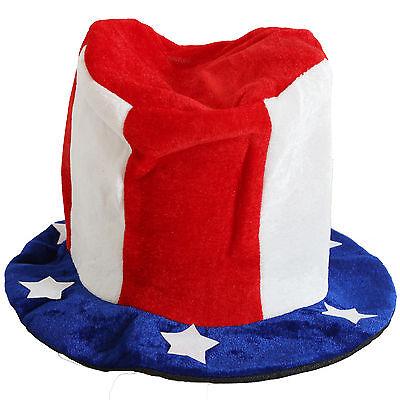 Fan-Hut Zylinder USA Uncle Sam Hut Fanhut Cap Mütze Fußball WM EM Fasching NEU