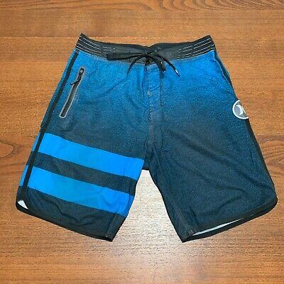 Hurley Men's Phantom Block Party Elite Board Shorts Size 28 Surf Julian Wilson