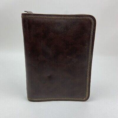 Franklin Covey Classic 7 Ring Leather Binder Full Zip Close 765140