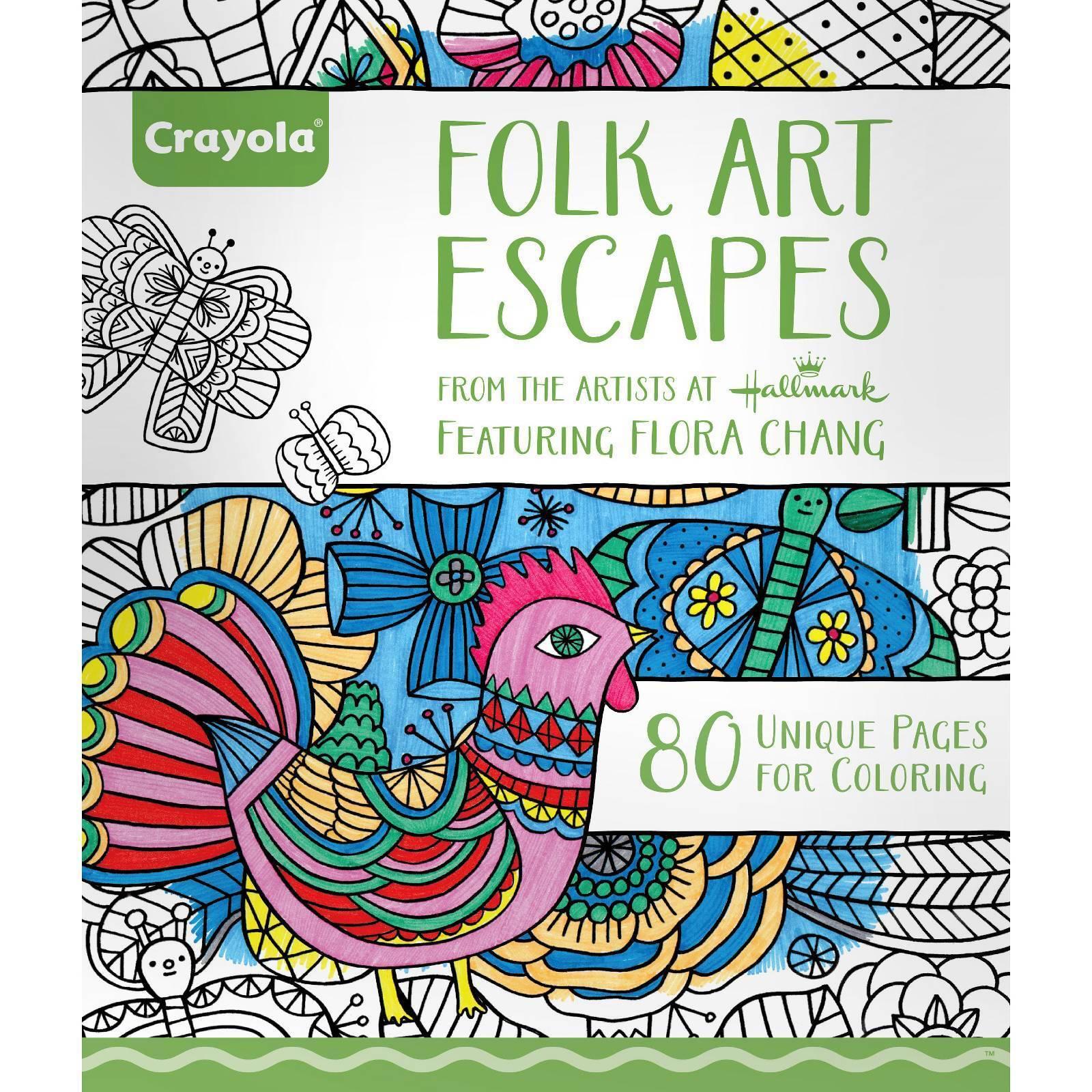 Crayola Folk Art Escapes Coloring Book - 529662 | eBay