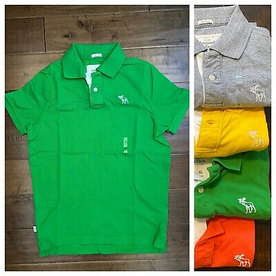 New Vintage Abercrombie & Fitch Muscle Fit Mens 100% Cotton Polo Shirt, Green XL