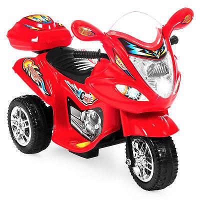 BCP 6V Kids 3-Wheel Motorcycle Ride-On Toy w/ LED Lights, Music, Storage