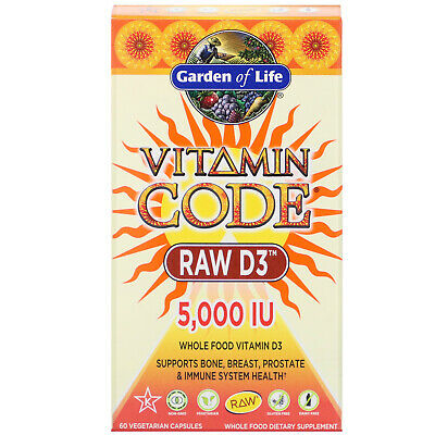 Garden of Life Vitamin Code RAW D3 Dietary Supplement - 5,00