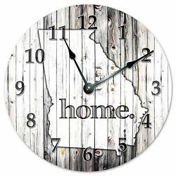 GEORGIA RUSTIC HOME STATE CLOCK - Large 10.5 Wall Clock - 2240