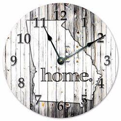 GEORGIA RUSTIC HOME STATE CLOCK - Large 10.5 Wall Clock - 2240