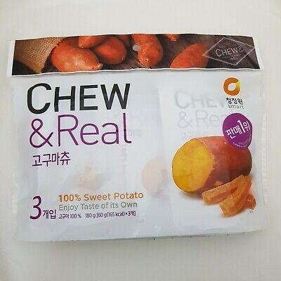 Korean Dried Sweet Potato Chewy Snack, Chew & Real, Chungjungone, Korean Food