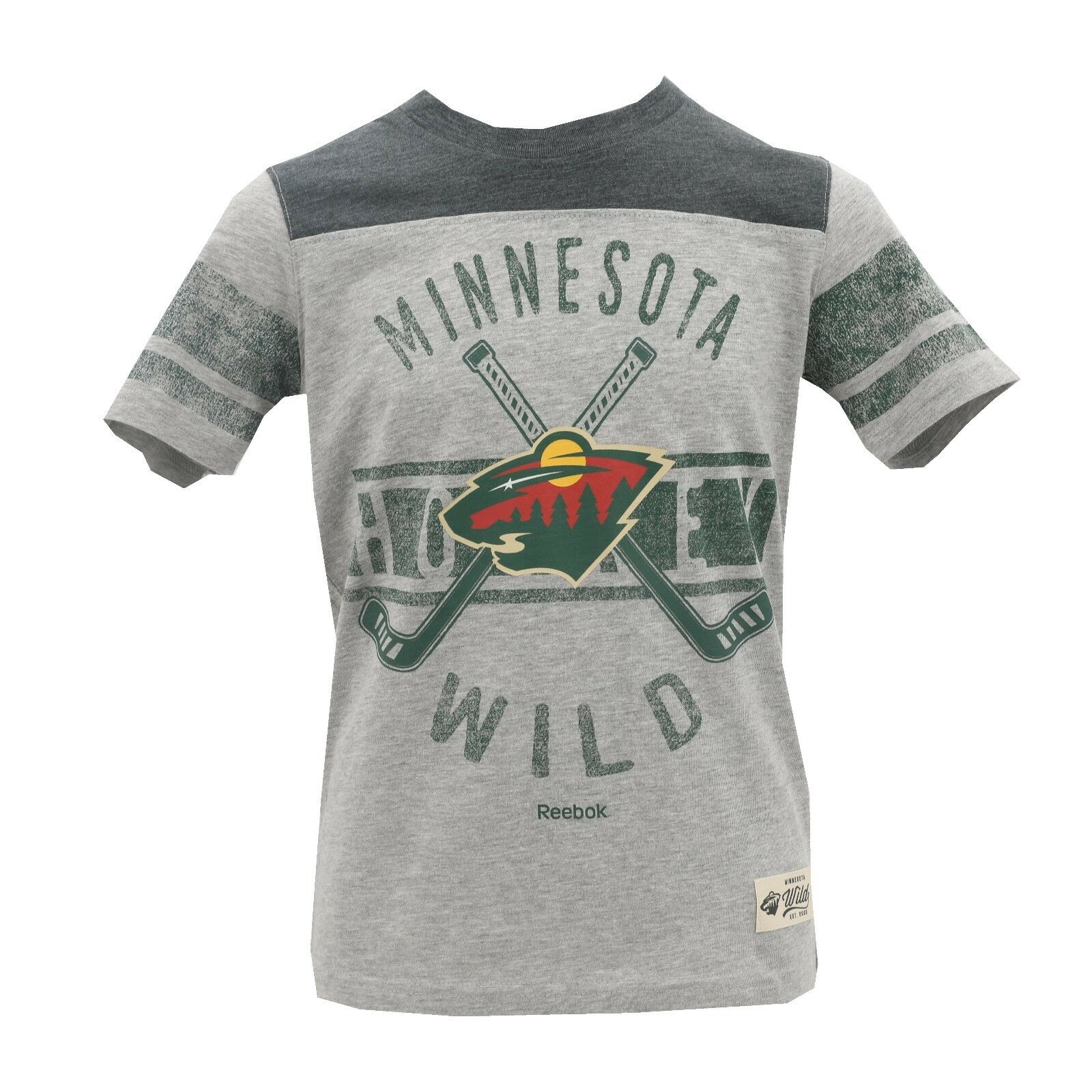 Minnesota Wild NHL Reebok Kids Youth Size Distressed T-Shirt New With Tags 3b1fe3e91