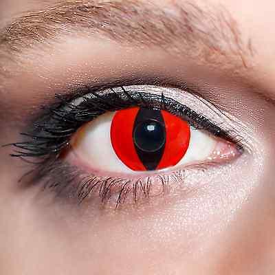 Rote Kontaktlinsen KwikSibs farbige Katzenaugen Tiger Motivlinsen Red Eyes;K531