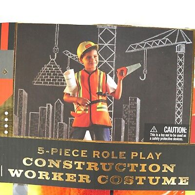 Construction Worker Costume For Kids (FAO Schwarz 5-Piece Construction Worker Costume For Ages 3-6, Role Play,)