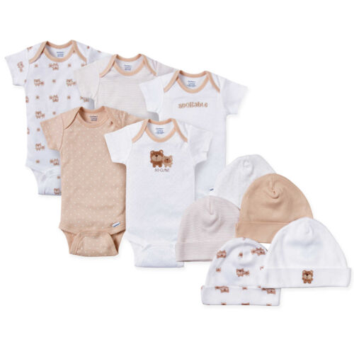 Gerber Baby Neutral 10 Piece Layette Set Size 3-6 Months Onesies Adorable Bears