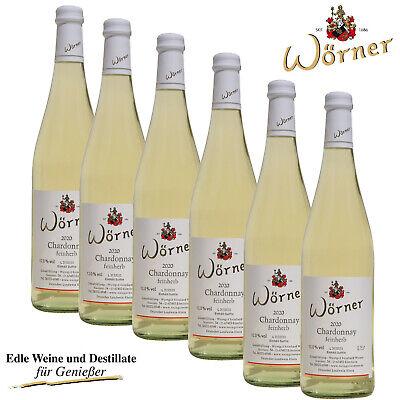 (7,11€/l) 6 x 0,75l Chardonnay feinherb WEINGUT WÖRNER Weißwein halbtrocken