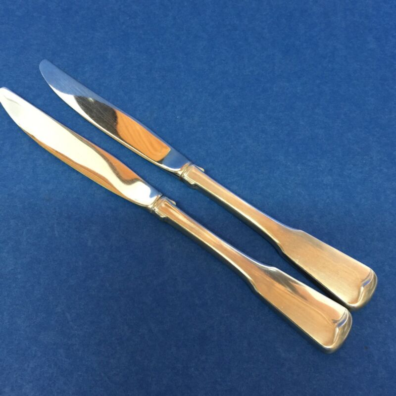 Oneida AMERICAN COLONIAL HH Dinner Knives Lot of 2 Heirloom Cube Stainless