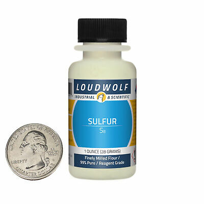 Sulfur 1 Ounce Bottle 99 Pure Reagent Grade Finely Milled Flour Usa