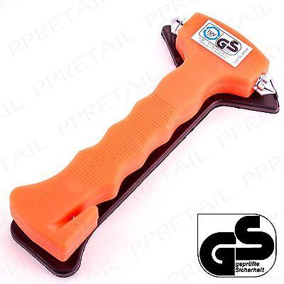 LIFE-SAVING EMERGENCY HAMMER Window Glass Breaker & Seat Belt Cutter Safety Tool