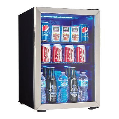 Danby 95 Can 2.6 Cu. Ft. Free Standing Beverage Center, Stainless Steel