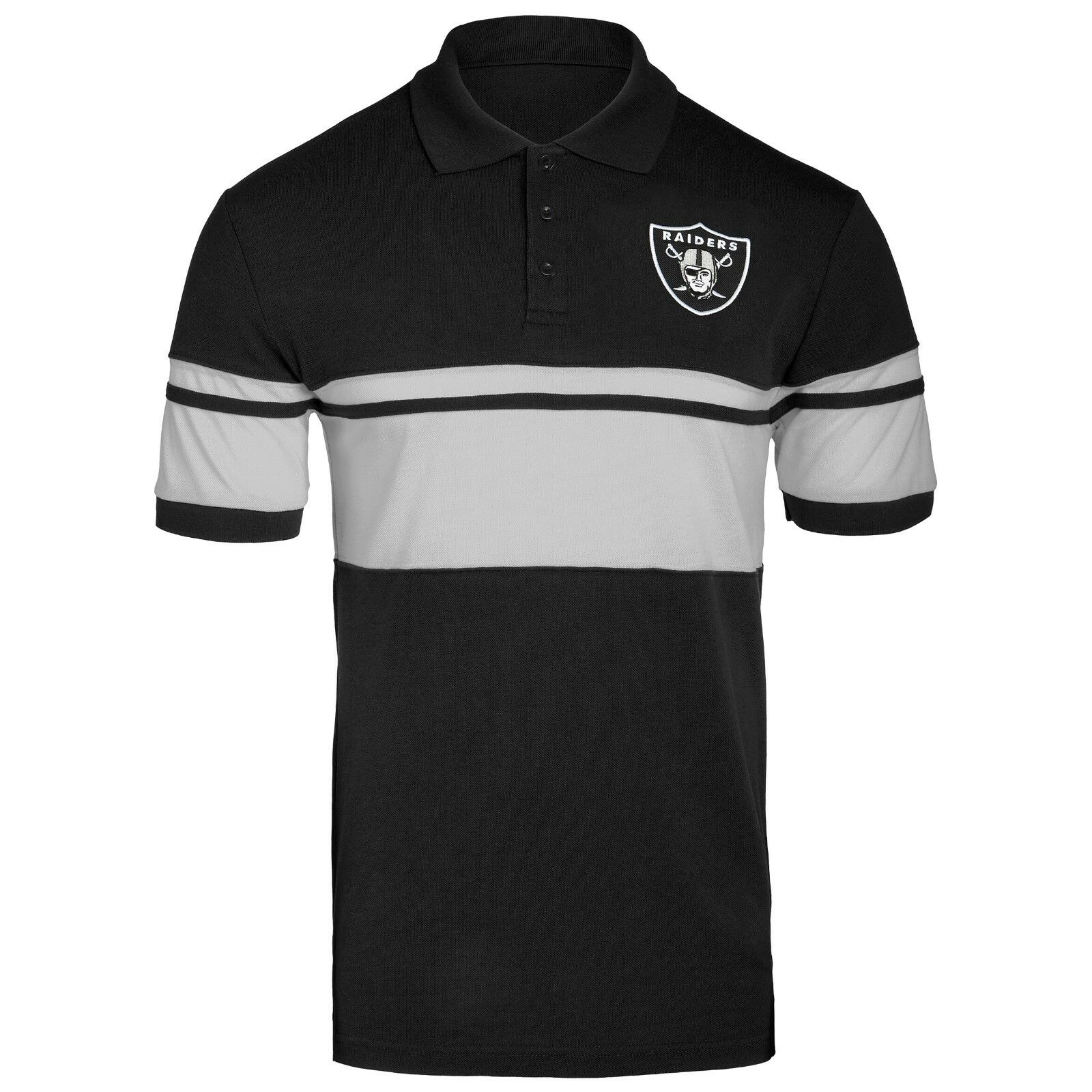 NFL Football Mens Cotton Stripe Logo Polo Shirt - Pick Team