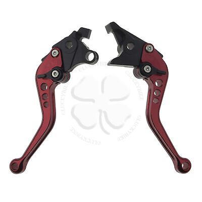 CNC Shorty Brake & Clutch Levers Red For Suzuki GSXR 1300 Busa 99+ Handle Hand