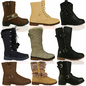 Womens Autumn Winter Boots Size 3 - 10