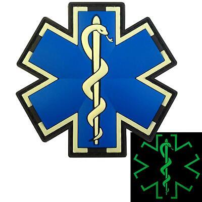 EMT EMS paramedic medic PVC glow dark morale tactical touch fastener patch