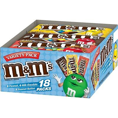 M&m Halloween Packs (M&M'S CANDIES VARIETY PACK 18FULL SIZE PACK -)