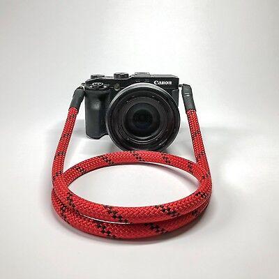 Kameragurt rot/schwarz 120 cm Kameraseil Schultergurt Tragegurt Camera Strap