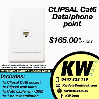 Install data/phone outlet