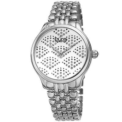 Women's Burgi BUR205SS Swarovski Crystal Silver Stainless Steel Bracelet Watch
