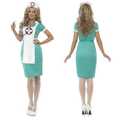 Ladies Classic Sexy Scrub Bedside Nurse Doctor Headdress Fancy Dress Costume Hen