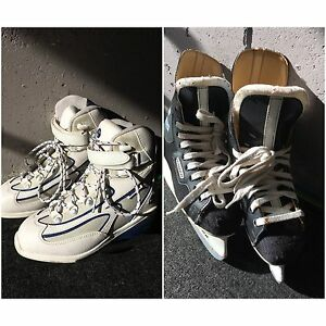 Boys hockey blades and girls/ladies softec skates