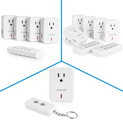 DEWENWILS Remote Control Electrical Outlet Plug Wireless On Off Power Switch