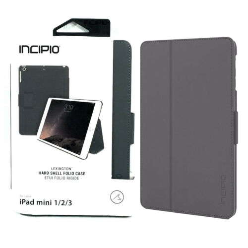 New Original INCIPIO Lexington Leather Gray Folio Case for A