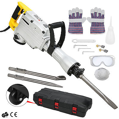 Electric Demolition Hammer Drill Concrete Breaker Jack Hammer Power Tool 1700W