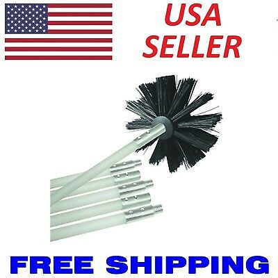 Dryer Vent Venting Duct Cleaning Lint Trap Removal Brush Vacuum Kit 12' Drill US