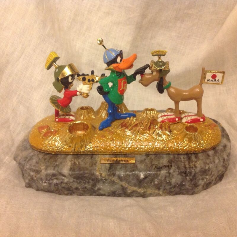 RARE Warner Bros. Ron Lee 1993 Duck Dodgers & Marvin The Martian Figurine