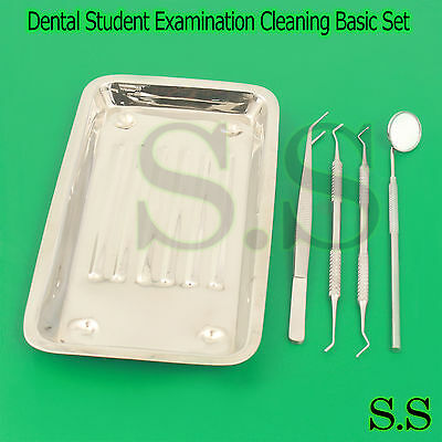Dental Dentist Student Examination Cleaning Full Basic Kit Autoclavable Steel