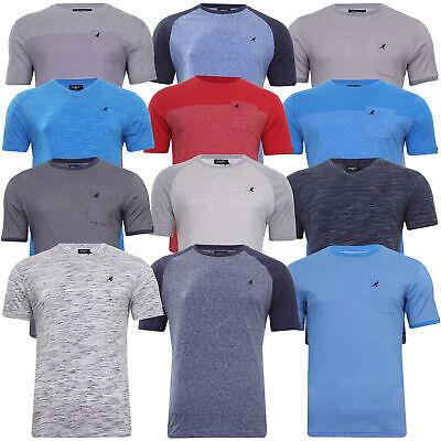 Mens Small to 6XL Kangol T Shirt Short Sleeve Slub Raglan Casual Crew or V Neck