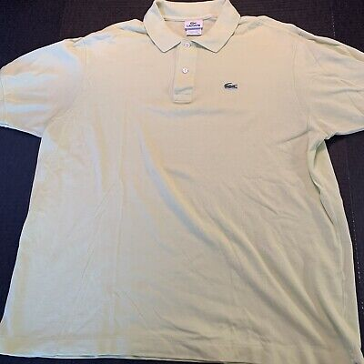 Lacoste Polo Shirt Mens Large Solid Yellow Short Sleeve Designed In France