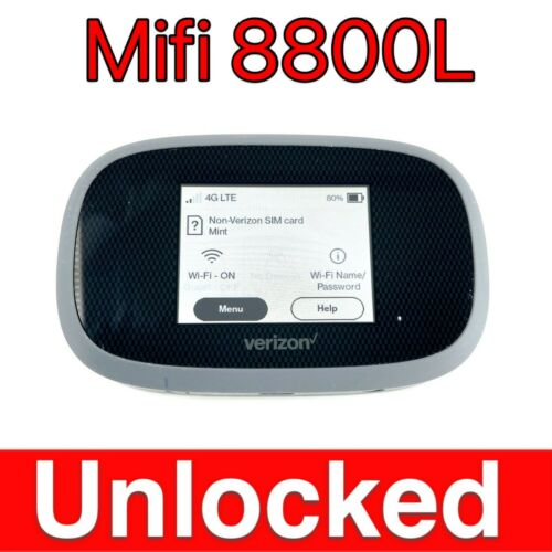 Unlocked MiFi 8800L Verizon Inseego Jetpack 4G LTE Wireless Wifi Hotspot Modem