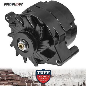 Ford Windsor 289 302 351 V8 Proflow Black Alternator 100 AMP Internal Regulator