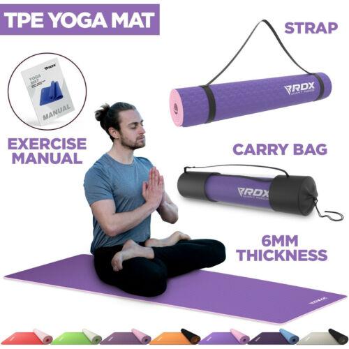 RDX Yoga Mat 6mm Thick Non Slip Pilates Gym Exercise Fitness Workout Gymnastics