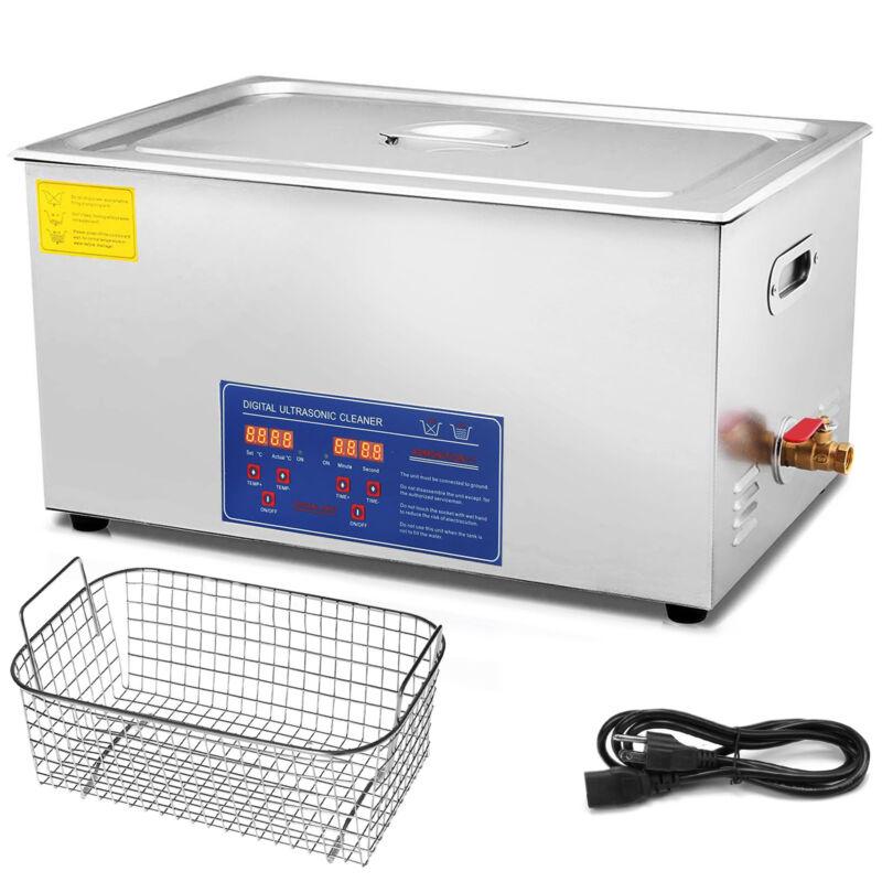 Ultrasonic Cleaner 30 L Liter Stainless Steel Industry Heated Bracket w/ Timer