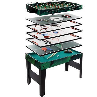 Multigame Spieletisch 10 in 1 Kickertisch Tischfußball Billardtisch Tischtennis