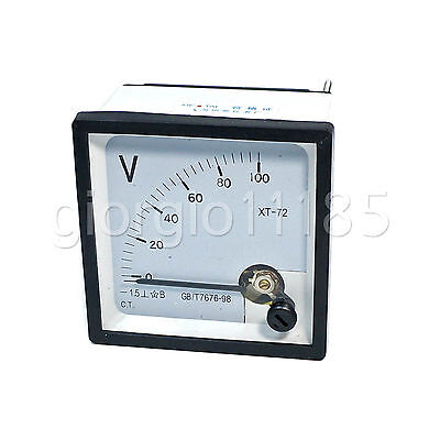 Us Stock Dc 0100v Square Analog Volt Pointer Needle Panel Meter Voltmeter Xt-72