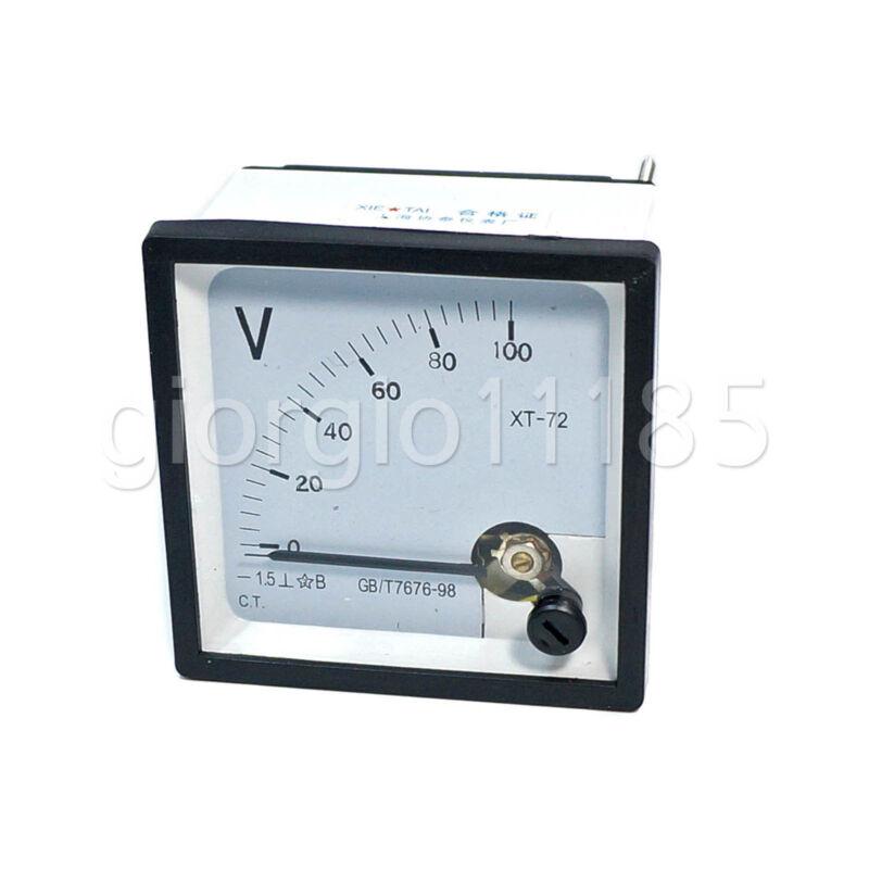 US Stock DC 0~100V Square Analog Volt Pointer Needle Panel Meter Voltmeter XT-72