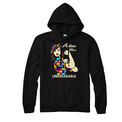 Autism Hoodie, Love, Heart, Mom, Unbreakable, Awareness, Adult & Kids Hoodie Top Mom Kids Hoodie