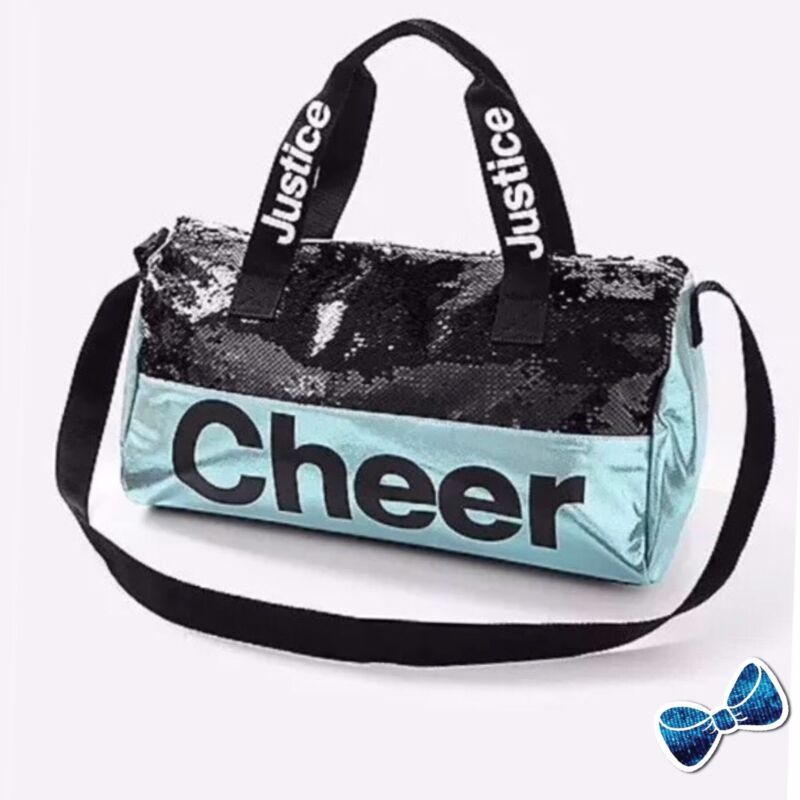 Justice CHEER Flip Sequin Duffle Bag New with Tags